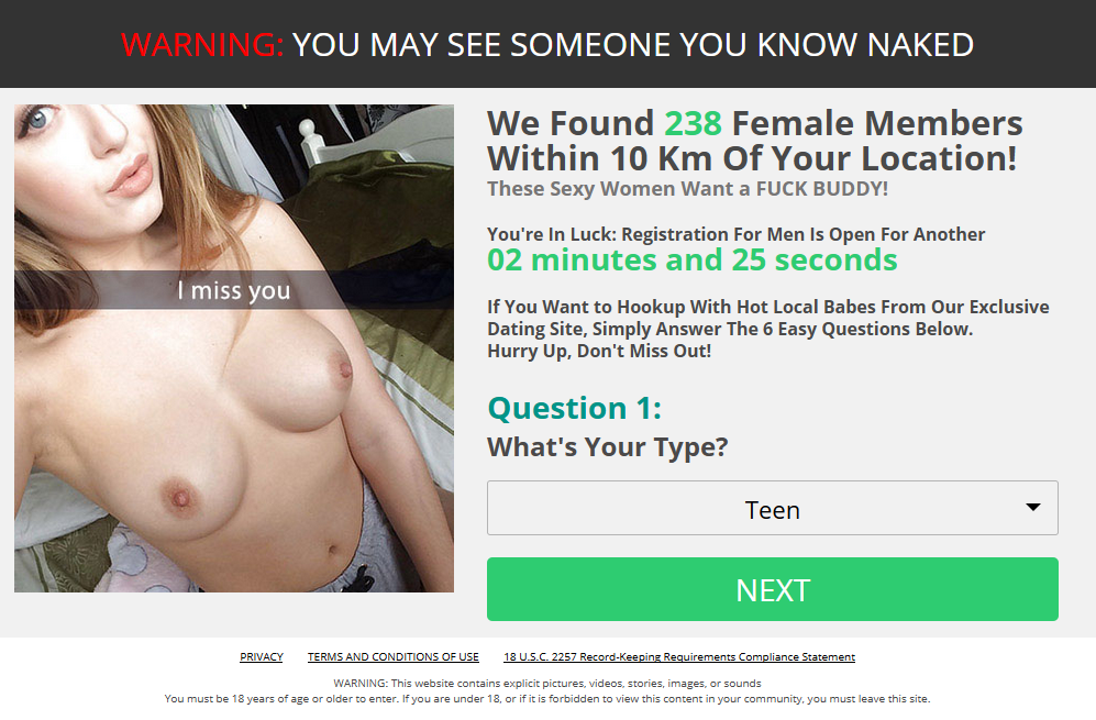 Needed no sex online hookups email all